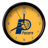Indiana Pacers Logo Black Rim Clock