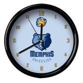Memphis Grizzlies Logo Black Rim Clock