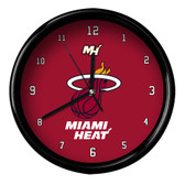Miami Heat Logo Black Rim Clock