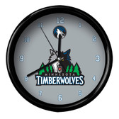 Minnesota Timberwolves Logo Black Rim Clock