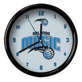 Orlando Magic Logo Black Rim Clock