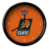 Phoenix Suns Logo Black Rim Clock