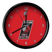 Portland Trail Blazers Logo Black Rim Clock