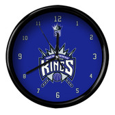 Sacramento Kings Logo Black Rim Clock