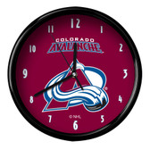Colorado Avalanche Black Rim Clock - Basic