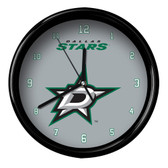 Dallas Stars Black Rim Clock - Basic