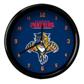 Florida Panthers Black Rim Clock - Basic