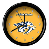 Nashville Predators Black Rim Clock - Basic