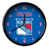 New York Rangers Black Rim Clock - Basic