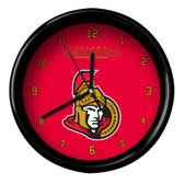 Ottawa Senators Black Rim Clock - Basic