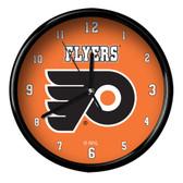 Philadelphia Flyers Black Rim Clock - Basic