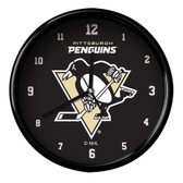 Pittsburgh Penguins Black Rim Clock - Basic