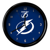 Tampa Bay Lightning Black Rim Clock - Basic