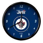 Winnipeg Jets Black Rim Clock - Basic