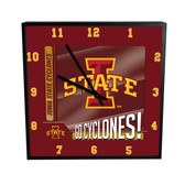 Iowa State Cyclones Go Team! 12in Square Clock