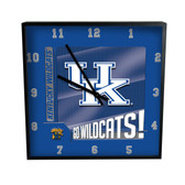 Kentucky Wildcats Go Team! 12in Square Clock