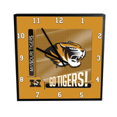 Missouri Tigers Go Team! 12in Square Clock