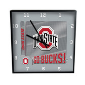 Ohio State Buckeyes Go Team! 12in Square Clock