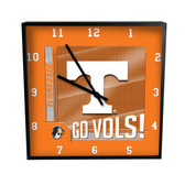 Tennessee Volunteers Go Team! 12in Square Clock