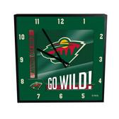 Minnesota Wild Go Team! 12in Square Clock