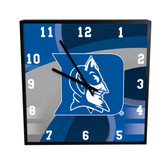 "Duke Blue Devils Carbon Fiber 12"" SQ Clock"