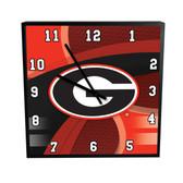 Georgia Bulldogs Carbon Fiber 12in Square Clock