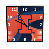 Illinois Fighting Illini  Carbon Fiber 12in Clock
