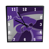 Kansas State Wildcats Carbon Fiber 12in Square Clock