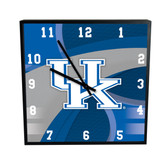 Kentucky Wildcats Carbon Fiber 12in Square Clock