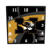 Missouri Tigers Carbon Fiber 12in Square Clock