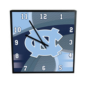 North Carolina Tar Heels Carbon Fiber 12in Square Clock