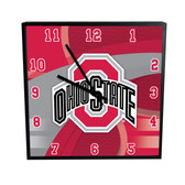 Ohio State Buckeyes Carbon Fiber 12in Square Clock