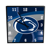Penn State Nittany Lions Carbon Fiber 12in Square Clock