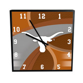 Texas Longhorns Carbon Fiber 12in Square Clock