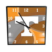 Tennessee Volunteers Carbon Fiber 12in Square Clock