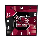 South Carolina Gamecocks Carbon Fiber 12in Square Clock