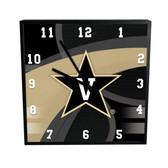 Vanderbilt Commodores Carbon Fiber 12in Square Clock