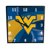 West Virginia Mountaineers Carbon Fiber 12in Square Clock