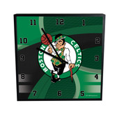 Boston Celtics Carbon Fiber 12in Square Clock