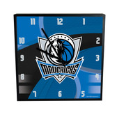 Dallas Mavericks Carbon Fiber 12in Square Clock