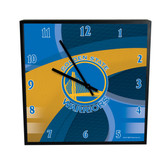 Golden State Warriors Carbon Fiber 12in Square Clock