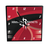 Houston Rockets Carbon Fiber 12in Square Clock