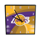 Los Angeles Lakers Carbon Fiber 12in Square Clock
