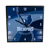 Memphis Grizzlies Carbon Fiber 12in Square Clock