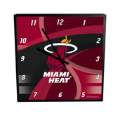 Miami Heat Carbon Fiber 12in Square Clock