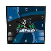 Minnesota Timberwolves Carbon Fiber 12in Square Clock