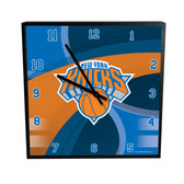 New York Knicks Carbon Fiber 12in Square Clock
