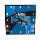 Orlando Magic Carbon Fiber 12in Square Clock