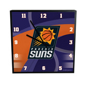 Phoenix Suns Carbon Fiber 12in Square Clock