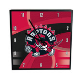 Toronto Raptors Carbon Fiber 12in Square Clock